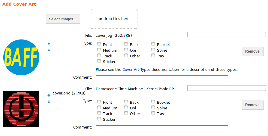 Uploading multiple files to the Cover Art Archive