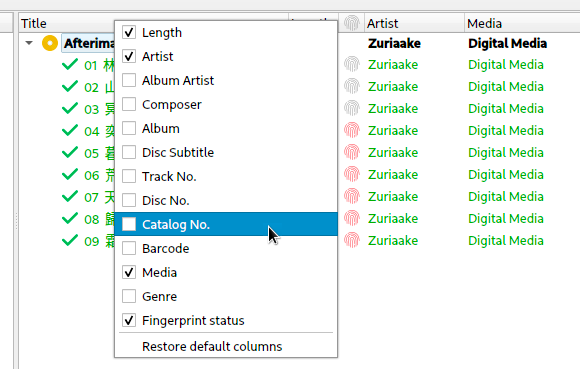 Picard's new configurable columns